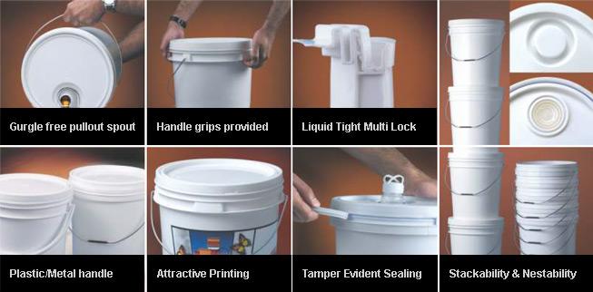Plastic Pails, Paint & HDPE Containers Manufacturers Mumbai